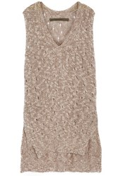 Enza Costa Stretch Knit Sweater Taupe