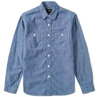 Beams Plus 2 Pocket Work Shirt Blue