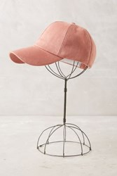 Anthropologie Sueded Baseball Cap Pink