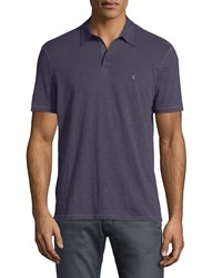 John Varvatos Short Sleeve Peace Sign Polo Shirt Purple Men's