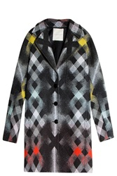 Marco De Vincenzo Plaid Coat Multi