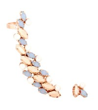 Joanna Laura Constantine Rose Gold Plated Crystal Cuff And Earring Set Multicoloured