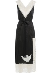 Marc Jacobs Satin Dress With Lace And Embroidery Multicolor