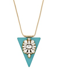 Fragments For Neiman Marcus Fragments Crystal Triangle Pendant Necklace Green