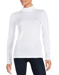 Splendid Knit Turtleneck White