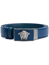 Versace Medusa Reversible Belt Blue