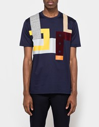 Junya Watanabe Cotton Jersey Patchwork Navy Grey