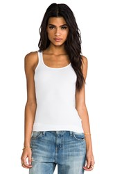James Perse Classic Brushed Long Tank White