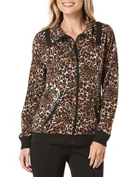 Rafaella Printed Stretch Cotton Jacket Copper