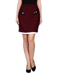 Marios Schwab Knee Length Skirts Garnet