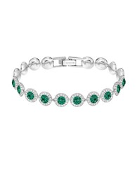 Swarovski Crystal And Emerald Bracelet Silver