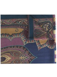 Etro 'Chal Marino' Scarf Pink And Purple