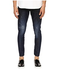 Dsquared Five Pocket Sexy Twist Jeans In Blue Blue Men's Jeans