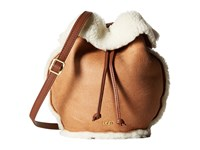 Ugg Claire Drawstring Chestnut Bomber Drawstring Handbags Brown
