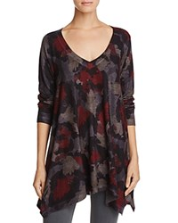 Nally And Millie Abstract Print Handkerchief Tunic Floral