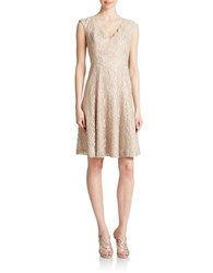 Eliza J Lace Fit And Flare Dress Champagne