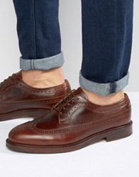 Selected Homme Benny Brogue Shoes Brown