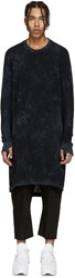 11 By Boris Bidjan Saberi Black And Blue Knit Mesh Pullover