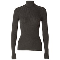 Max Studio Ribbed Roll Neck Jumper Heather Charcoal