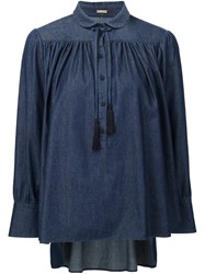 Adam By Adam Lippes Blouson Blouse Blue