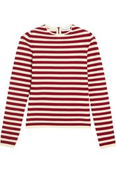 Sonia Rykiel Striped Knitted Sweater Red