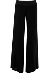 Enza Costa Chiffon Wide Leg Pants Black