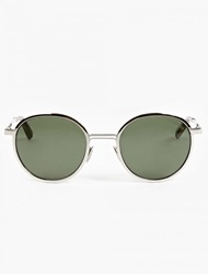 Olive '1179' Oval Sunglasses