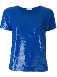 P.A.R.O.S.H. Sequin T Shirt Blue