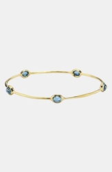 Ippolita 'Rock Candy Lollipop' 18K Gold Station Bangle Yellow Gold London Blue Topaz