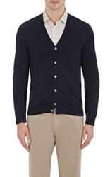 Zanone Men's V Neck Cardigan Navy