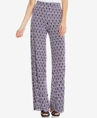 Vince Camuto Printed Wide Leg Pants Evening Navy