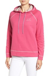 Vineyard Vines Women's Hooded Pullover Sweater Rhododendron