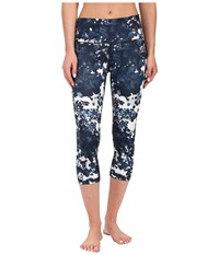 Adidas Performer High Rise 3 4 Tights Floral Explosion Print Black Print Matte Silver Women's Workout