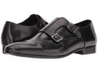 Dune Reynolds Black Leather Men's Shoes