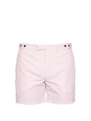 Frescobol Carioca Tailored Paraty Print Swim Shorts Pink