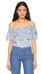 One By Tm Off Shoulder Bodysuit With Frill Print
