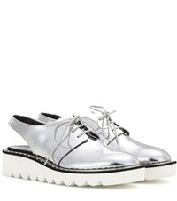 Stella Mccartney Scarpa Platform Cut Out Derby Shoes Silver