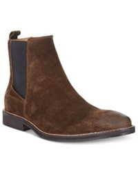 Guess Men's Jibbs Chelsea Boots Men's Shoes Brown