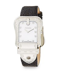Fendi Crystal Stainless Steel Strap Watch No Color