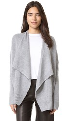 Vince Drape Front Cardigan Grey Flannel