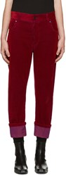 Haider Ackermann Red Corduroy Trousers