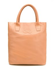 Sarah Chofakian Leather Tote Bag Yellow Orange