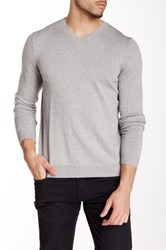 Wallin And Bros Cotton Cashmere V Neck Sweater Gray
