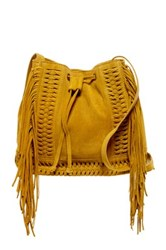 Shiraleah Emma Suede Bucket Bag Yellow