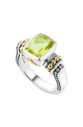Women's Lagos 'Caviar Color' Small Semiprecious Stone Ring Green Quartz