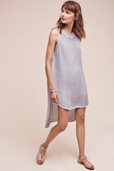 Anthropologie High Low Dalle Tunic Navy