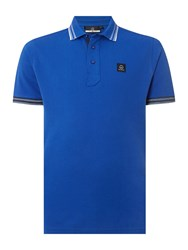 Duck And Cover Duran Short Sleeve Classic Polo Shirt Cobalt