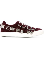 Toga Pulla Buckled Sneakers Red