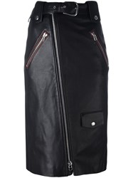 Each X Other Zipped Mid Pencil Skirt Black