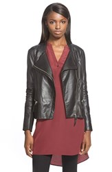 Trouve Women's Trouve Zip Sleeve Leather Jacket